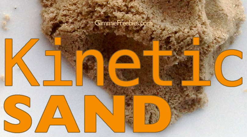 Make Your Own Kinetic Sand (10 lbs for 50 cents!)